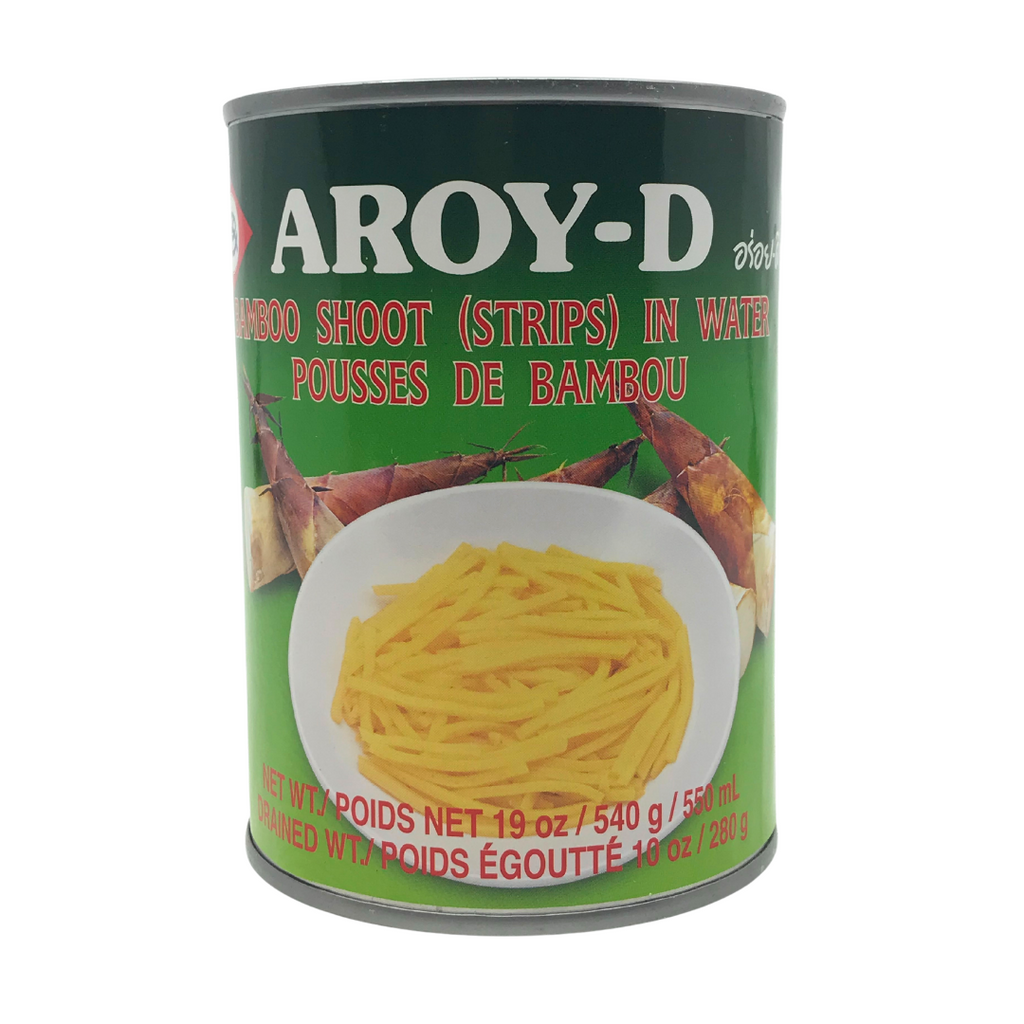 Aroy-D Bamboo Shoot Strips in Water 19oz (540g)