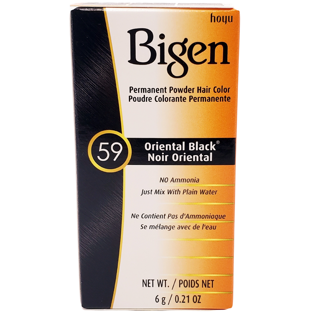 Bigen Permanent Hair Color ORIENTAL BLACK #59 (0.21 0Z)