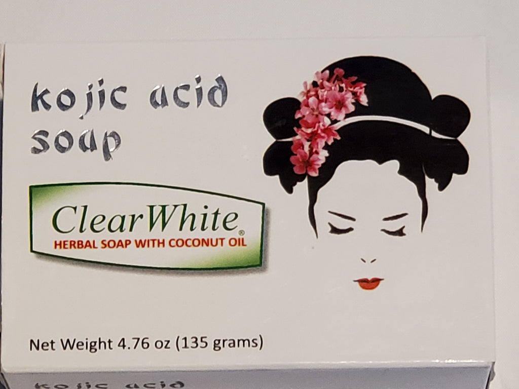 Clear White Kojic Acid Soap (Herbal Soap with Coconut Oil) 135g (4.76oz)