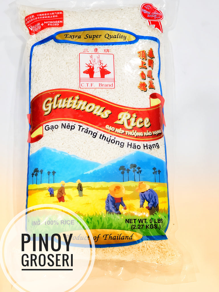 Deer Glutinous Rice 5lbs (Limit 2 per Order)