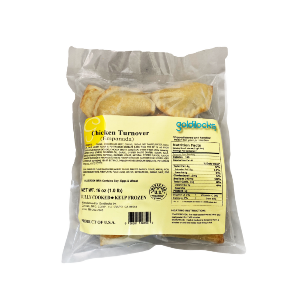 Goldilocks Frozen Chicken Turnover (Empanada) 16oz