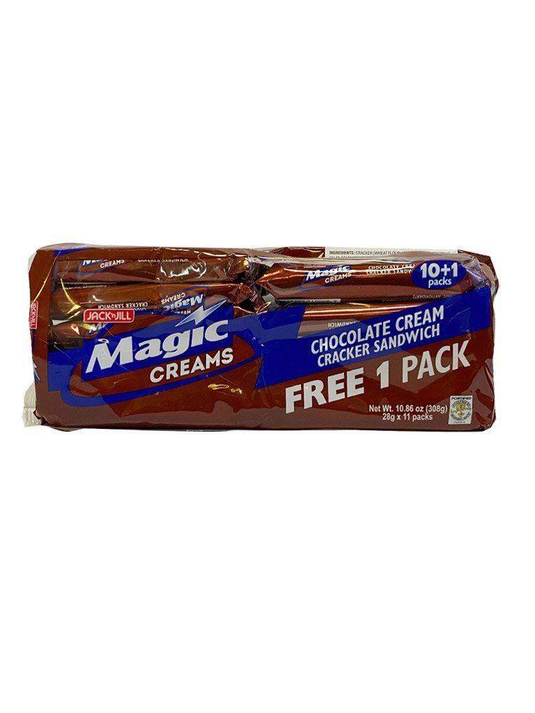 Jack and Jill Magic Creams Chocolate Cream Cracker 28gx11