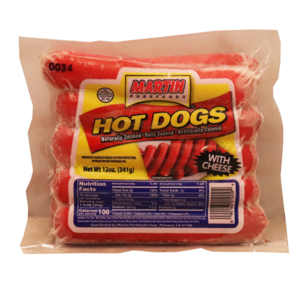 MARTIN Purefoods Hotdogs (with CHEESE) 12oz (341g)
