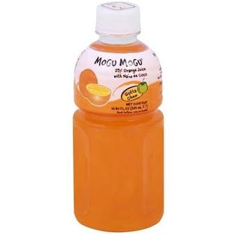 Mogu Mogu Orange Juice with Nata 10.82oz (320ml)
