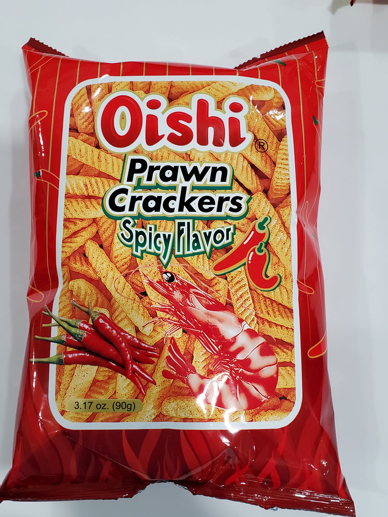Oishi Prawn Crackers Spicy  (BIG) 90g