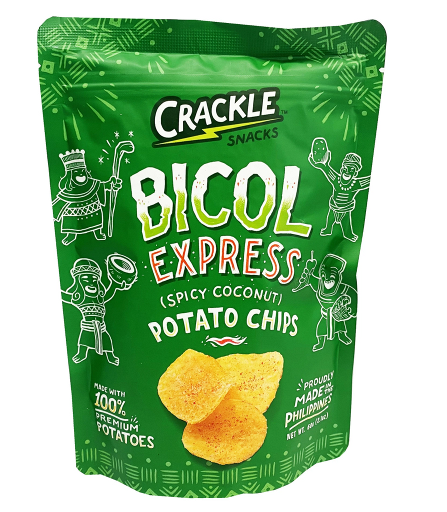 Crackle Bicol Express Potato Chips (Spicy Coconut) 2.1oz (60g)