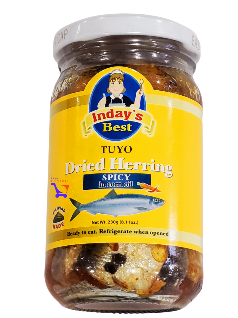 Inday's Best Dried Herring Tuyo Spicy (8.11oz) YELLOW