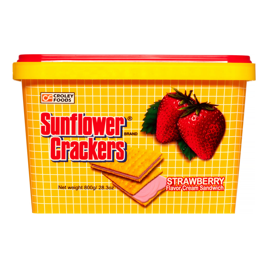 Croley Foods Sunflower Crackers STRAWBERRY TUB 800g