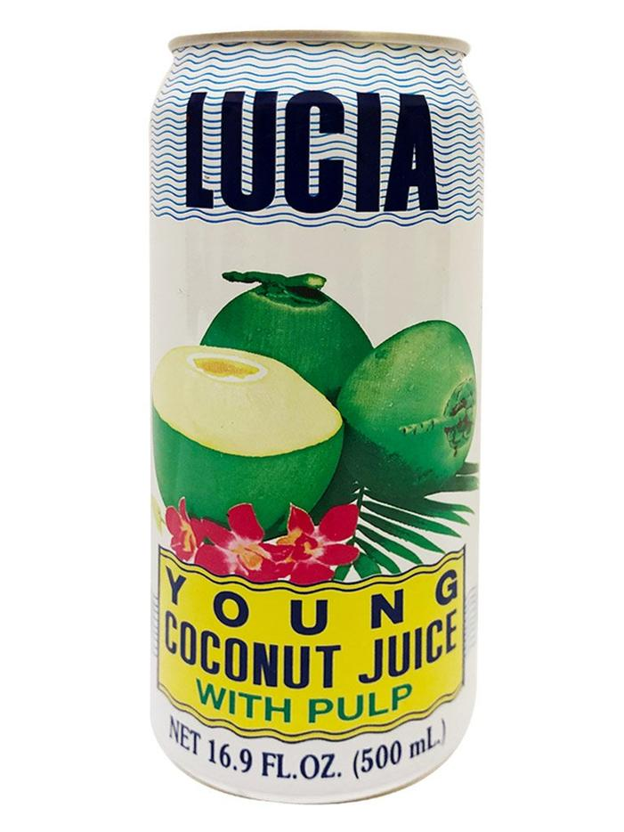Lucia Young Coconut Juice with Pulp BIG 16.9fl.oz (500ml)