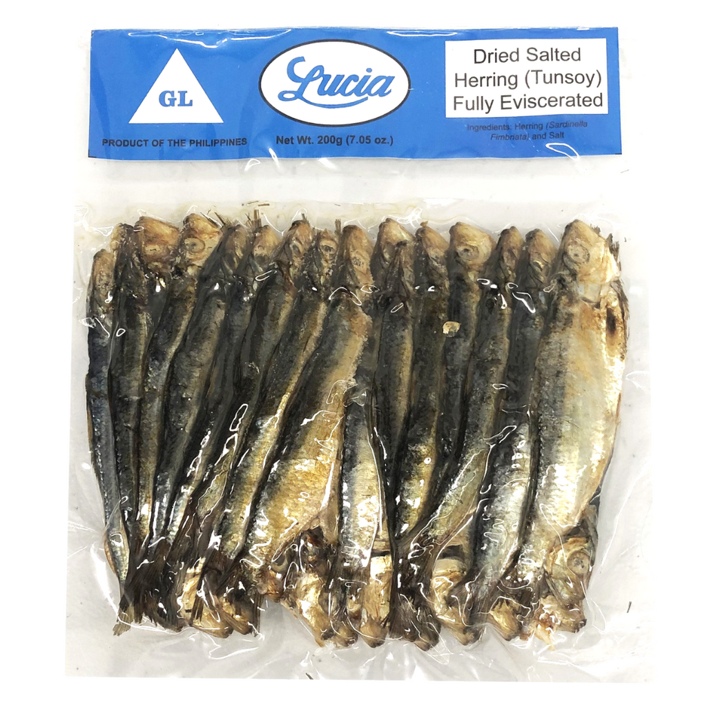 Lucia Dried Salted Herring (Tunsoy-Tuyo) Fully Eviscerated 7.05oz (200g)