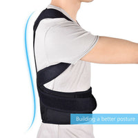 straight spine of man with Mercebull posture corrector