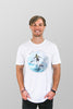 Manly T Shirt Surfer White Mens