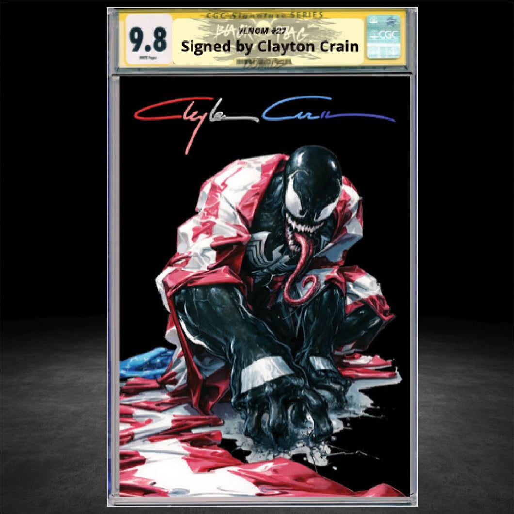 CGC Signature Series 9.8 Venom #27 Secret Dark Edition
