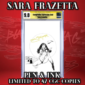 Sara Frazetta Pen & Ink Vampirella Trial for the Soul #1 CGC 9.8 Copy