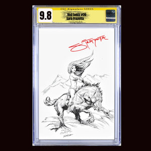 CGC Signature Series 9.8 Red Sonja #20 Sara Frazetta