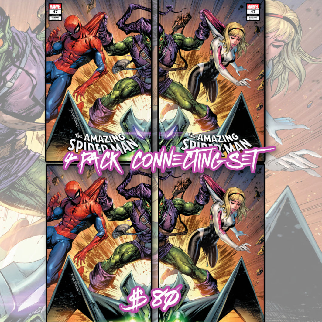 Amazing Spider-Man 47 4 Pack Connecting Cover Set Tyler Kirkham