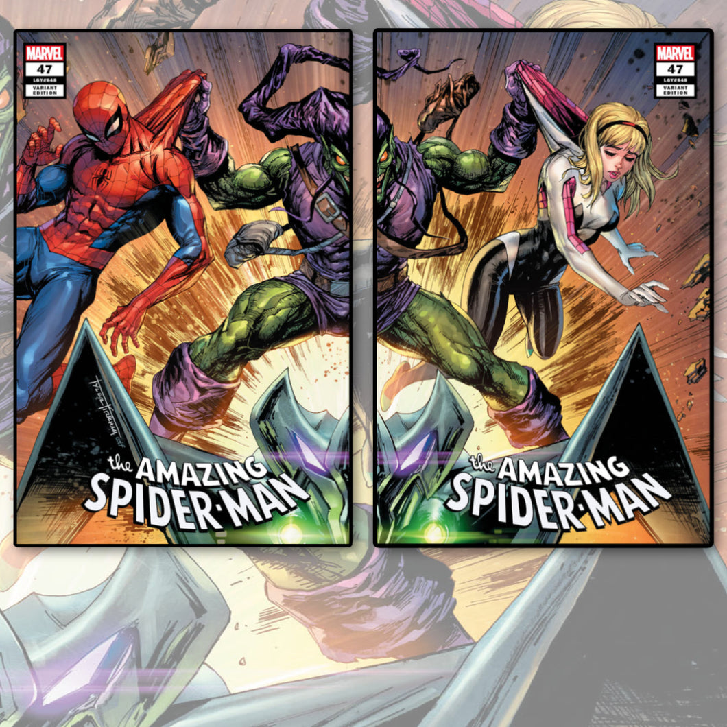 Amazing Spider-Man #47 Tyler Kirkham 2 pack Trade Dress Connecting Covers