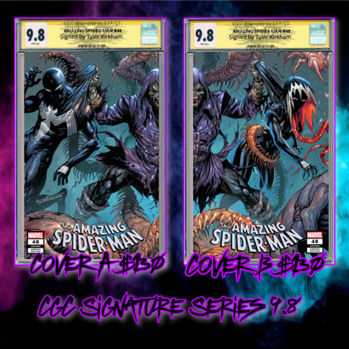Amazing Spider-Man #48 Tyler Kirkham CGC Signature Series Trade Dress Covers