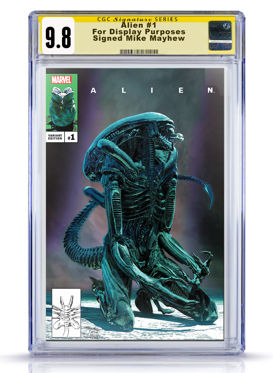 CGC Signature Series 9.8 Alien #1 Mike Mayhew Cover Art Cover A