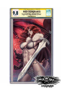 CGC 9.8 Signature Series Red Sonja #15 Ariel Diaz Virgin Cover