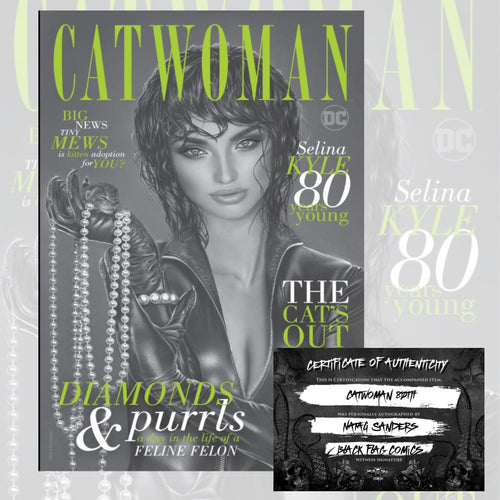 Signed w/COA Catwoman 80th Anniversary Natali Sanders Secret Cover