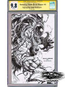 C2E2 Exclusive Immortal Hulk Great Power Tyler Kirkham Virgin Cover 9.8 CGC Signature Series