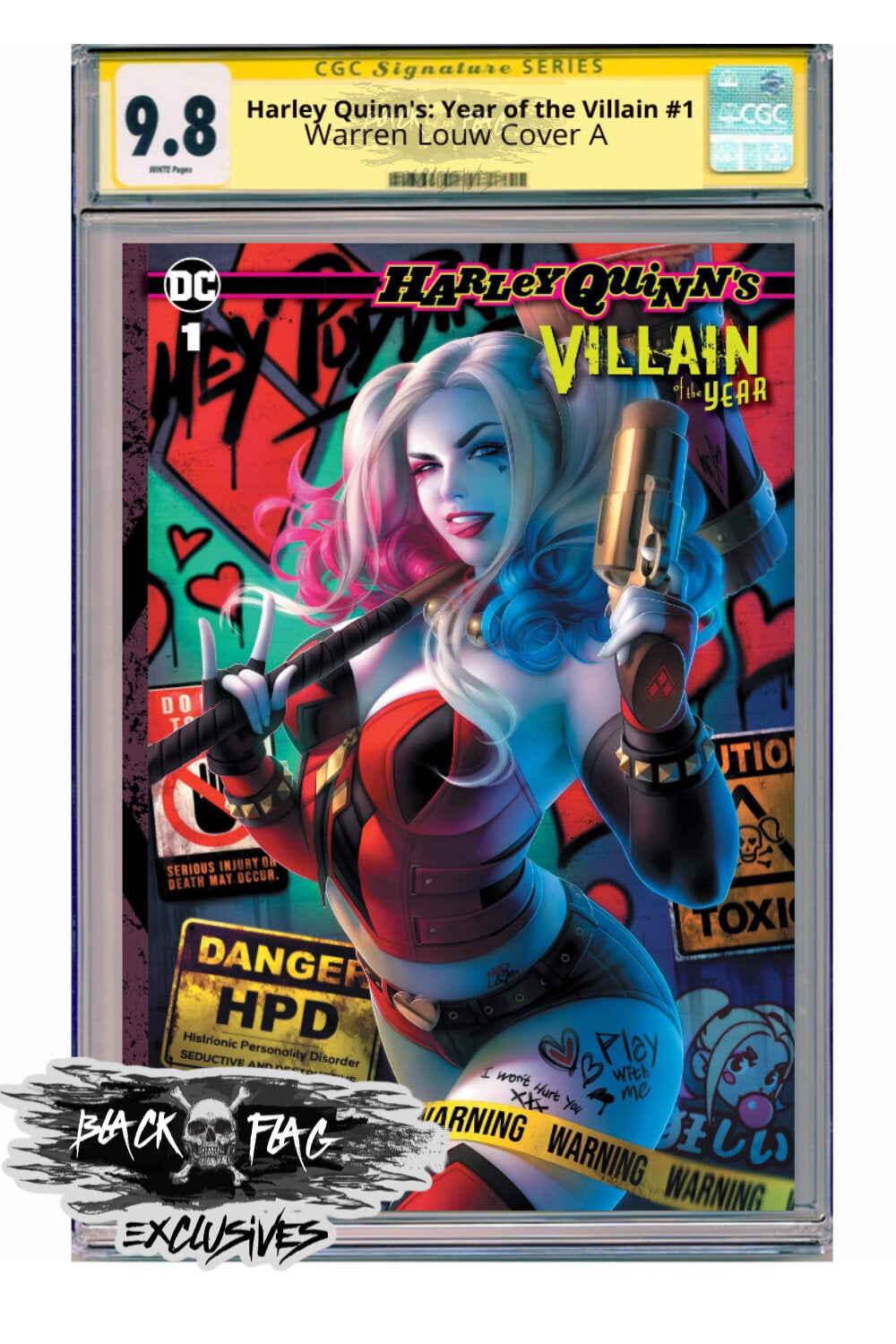 CGC Signature Series  Harley Quinn's: Year of the Villain #1 Louw Cover A