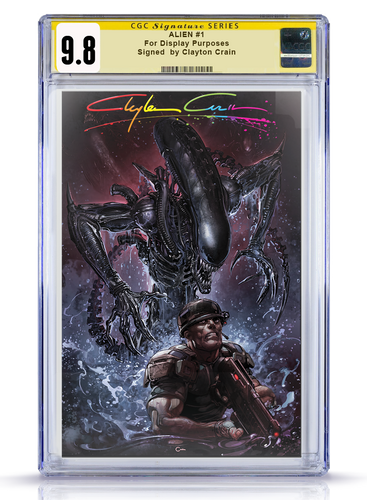 IC CGC Infinity Murder 9.8 Clayton Crain Alien #1 Virgin Cover