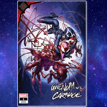 Load image into Gallery viewer, KIB Gwen vs. Carnage #1 Clayton Crain Cover Art