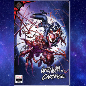 KIB Gwen vs. Carnage #1 Clayton Crain Cover Art
