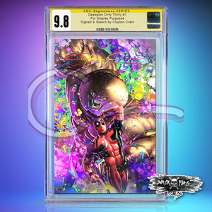 Infinity Murder Signature CGC 9.8 Deadpool Dirty Thirty Black Light