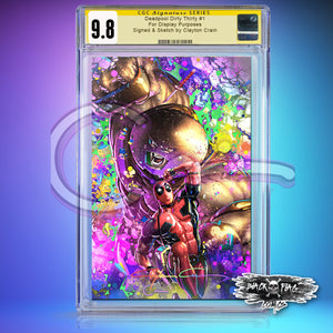 Infinity CGC Signature Series 9.8 Deadpool Dirty Thirty Black Light