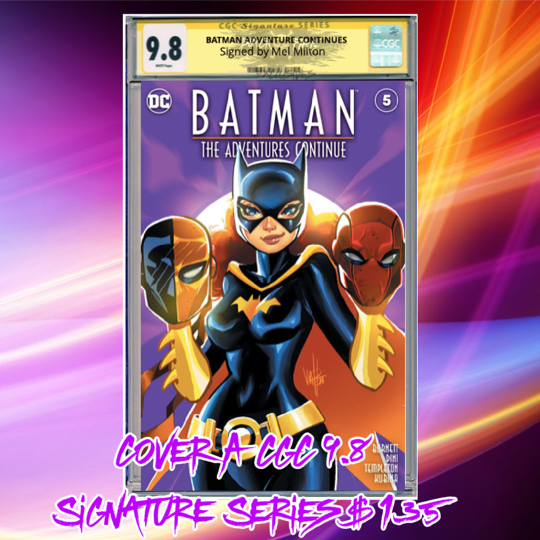 CGC Signature Series 9.8 Cover A Batman Adventure Continues #5