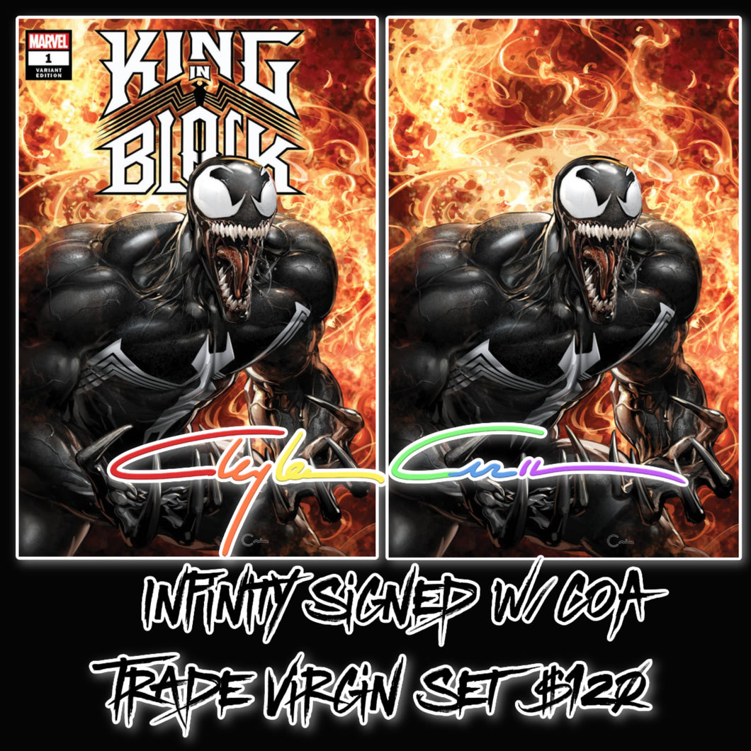 Infinity Signed w/COA King In Black #1 Clayton Crain Cover Art