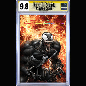 CGC Signature Series Virgin Cover King In Black #1 Clayton Crain Infinity Edition
