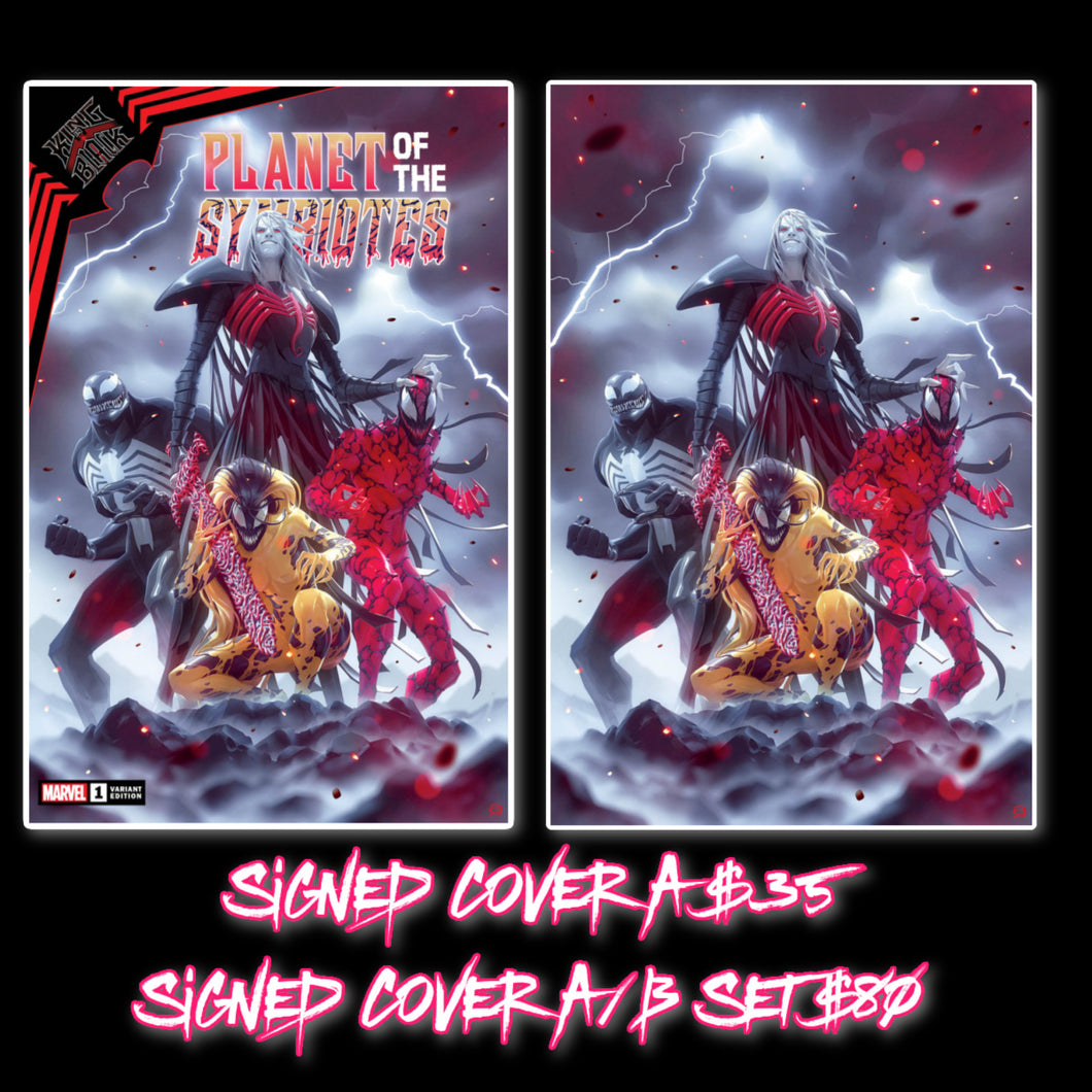 Signed w/COA King In Black Planet of the Symbiotes Alex Garner Cover Art