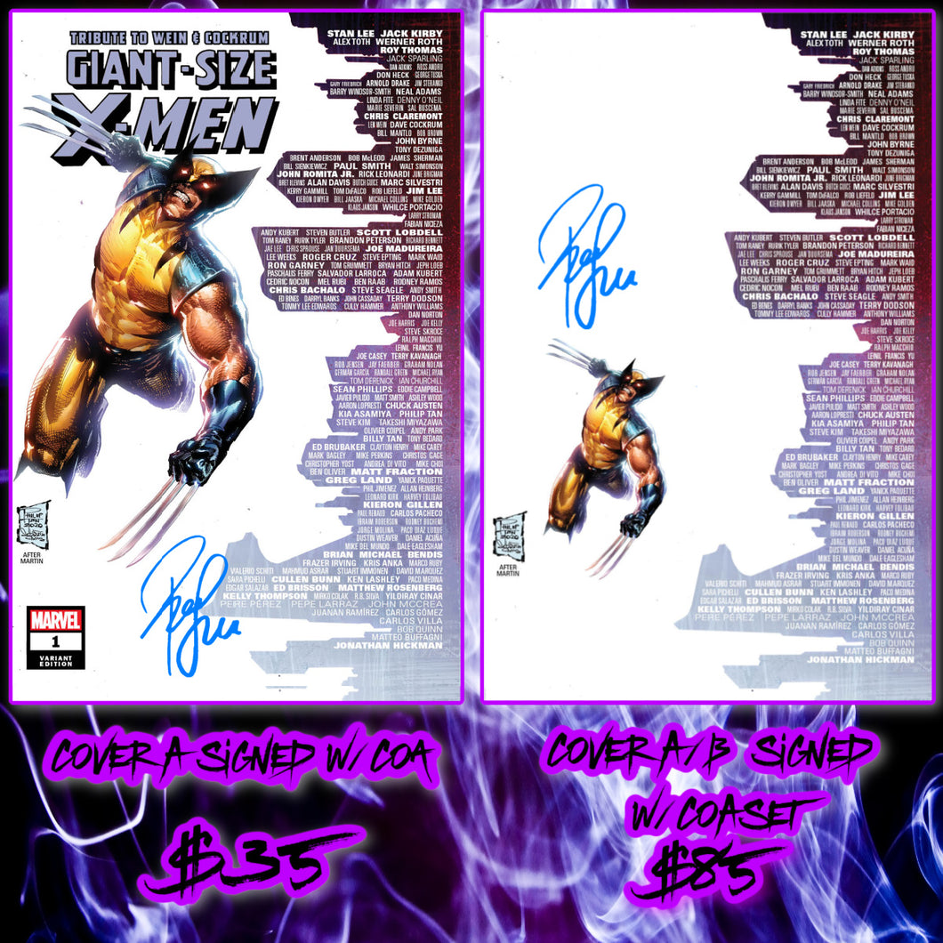 Signed w/COA Giant Size X-Men #1 Philip Tan Skyline Variant