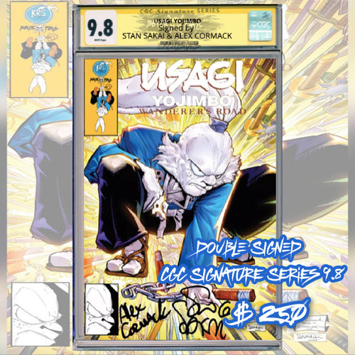 DOUBLE SIGNED CGC Signature Series 9.8 Stan Sakai & Alex Cormack Usagi Yojimbo