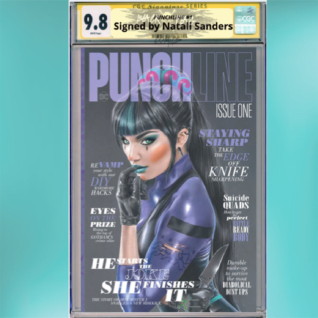 CGC Signature Series Natali Sanders Punchline #1 Cover A