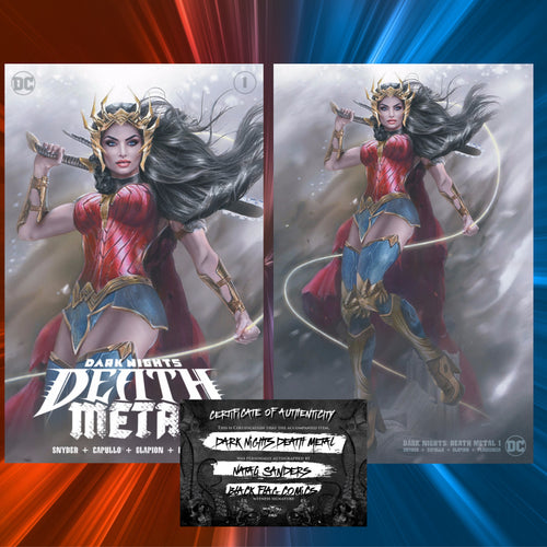 Signed/COA Dark Nights Death Metal #1  Natali Sanders Cover Art