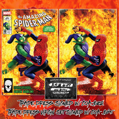 Amazing Spider-Man #49 Mike Mayhew Cover Art Signed w/COA