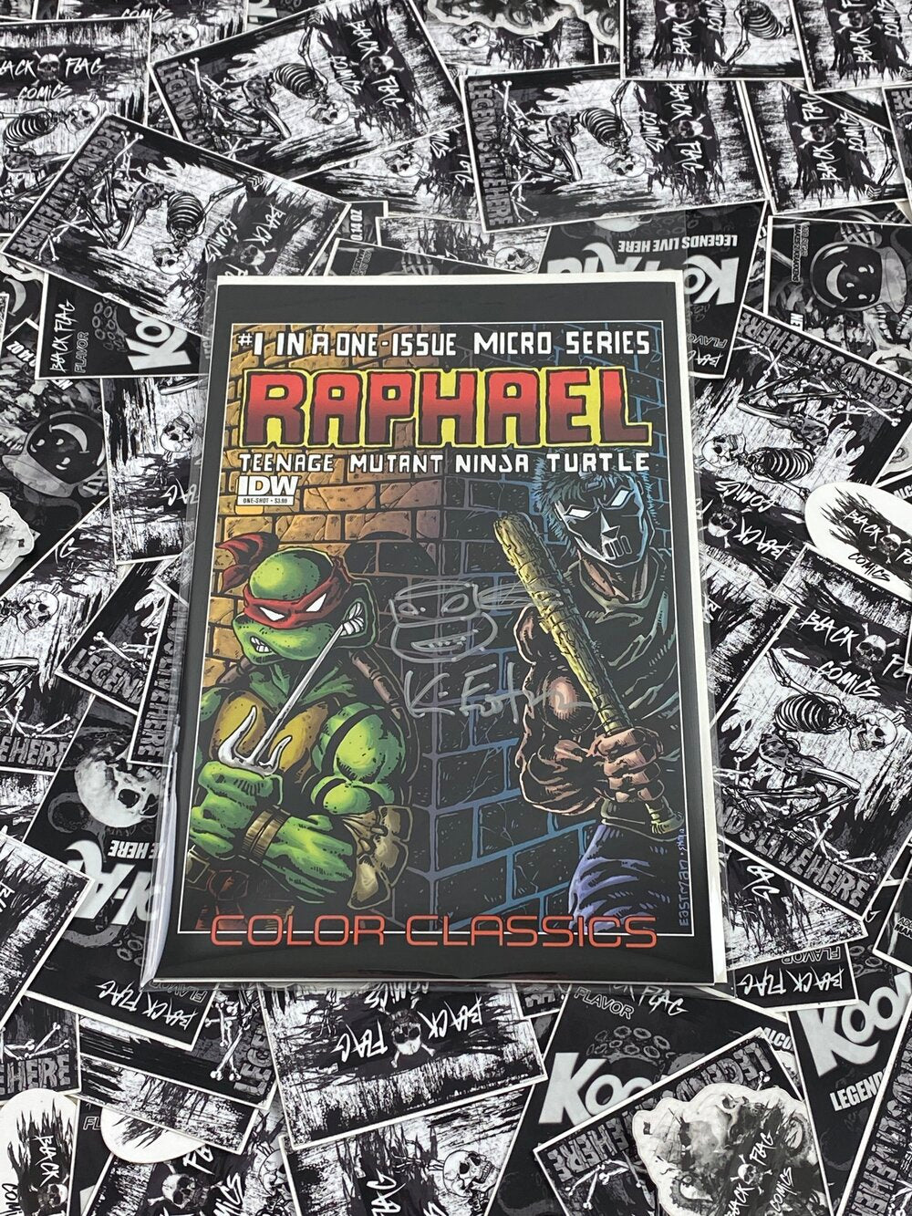 TMNT Color Classics Micro Series #1 Raphael Signed and Remarked by Kevin Eastman