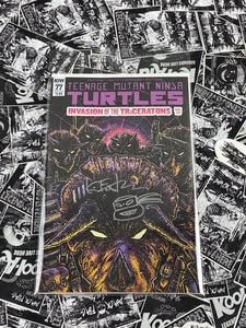 Teenage Mutant Ninja Turtles #77 Cover B Signed and Remarked by Kevin Eastman