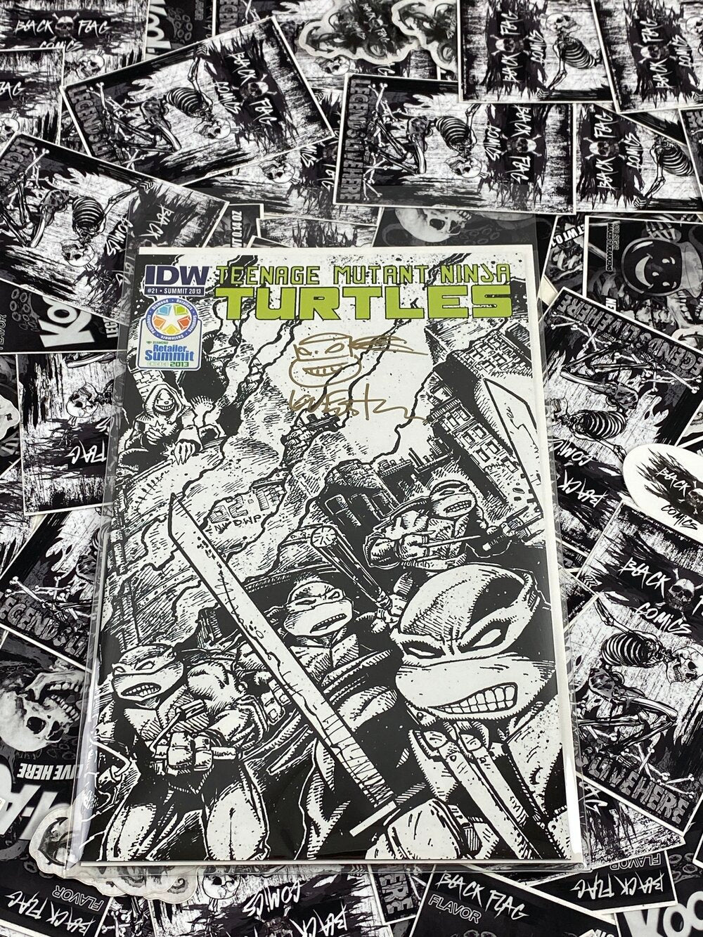 TMNT #2 Summit 2013 Variant Signed and Remarked by Kevin Eastman