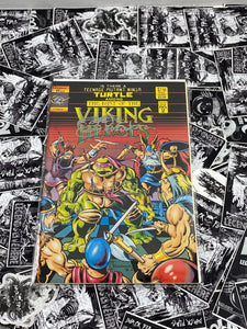 Last of the Viking Heroes Summer Special #2 1990 Signed and Remarked by Kevin Eastman