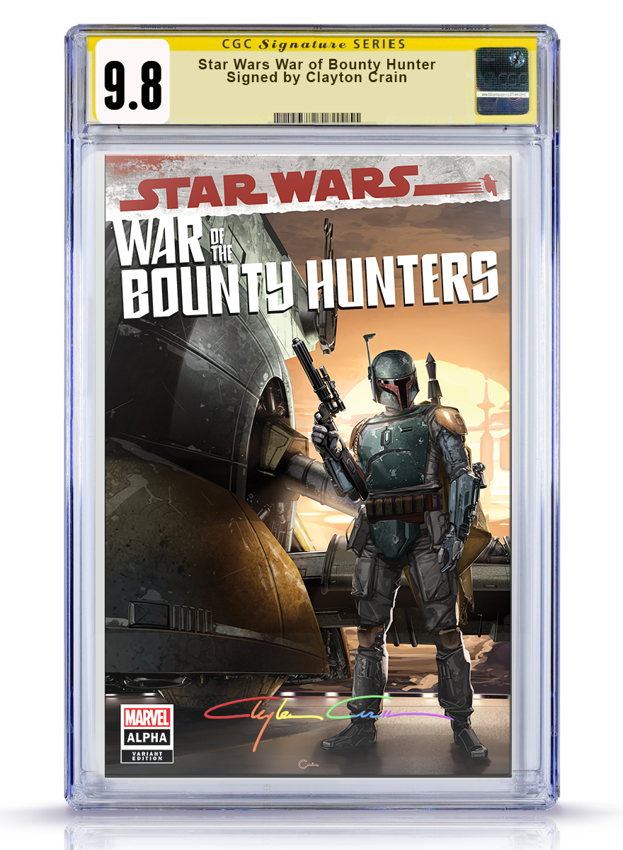 CGC Signature Series 9.8 Trade Dress Infinity Star Wars War of the Bounty Hunter Alpha #1 Crain
