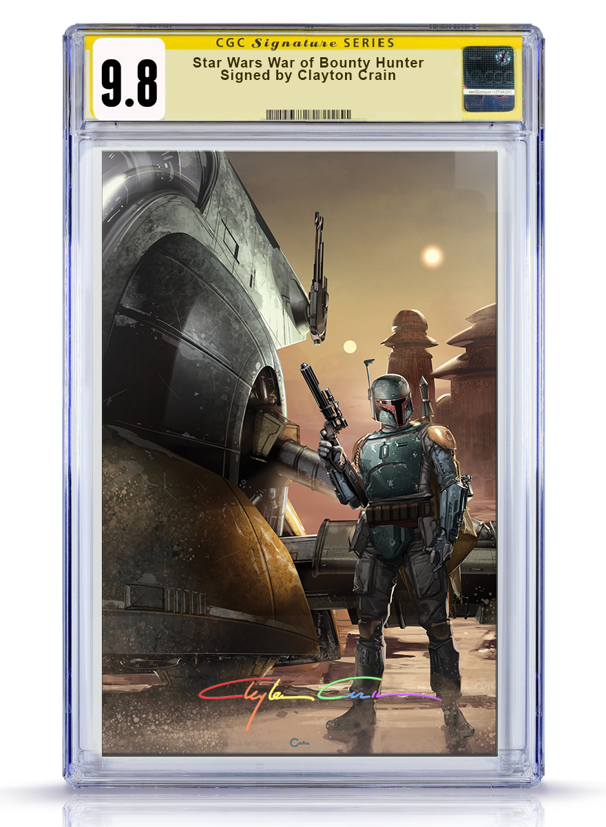 IC CGC Signature Series 9.8 Virgin Infinity Star Wars War of the Bounty Hunter Alpha #1 Crain