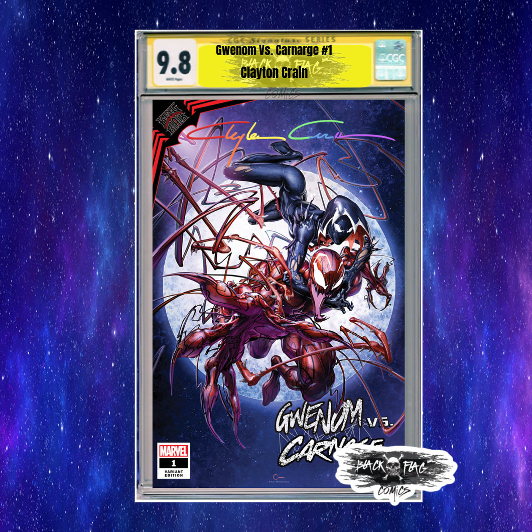 KIB Gwenom vs Carnage #1 Clayton Crain CGC Trade Dress 9.8 Infinity Signature