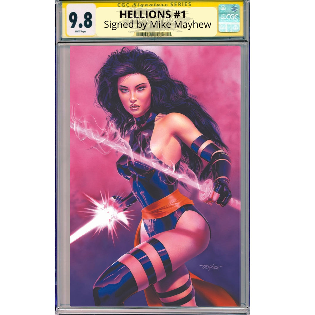 Hellions #1 CGC Virgin Cover Signature Series