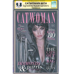 CGC Signature Series Trade Catwoman 80th Anniversary Natali Sanders Cover